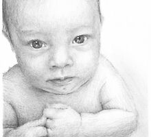 baby closeup drawing by Mike Theuer