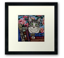 Bella and Books Framed Print