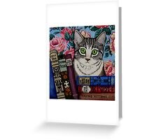 Bella and Books Greeting Card