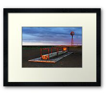 Cattle Trough - Hay Plains Framed Print
