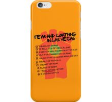 Fear and Loathing in Las Vegas checklist iPhone Case/Skin