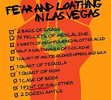 Fear and Loathing in Las Vegas checklist by tinaodarby