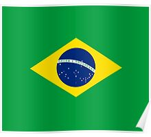 I Love Brazil - Country Code BR T-Shirt & Sticker Poster