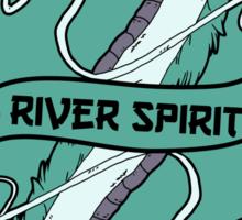 The river spirit card Sticker