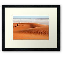 Dune and Salt Lake1 Framed Print