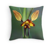 Wallflower-Orchid Throw Pillow