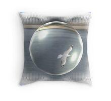Bird In A Bubble Throw Pillow