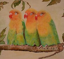 LOVE BIRDS by Marilyn Grimble