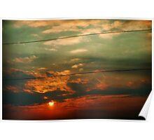 Segmented - Winter Sunset Poster
