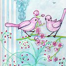 Springtime Birds by Lorna Gerard