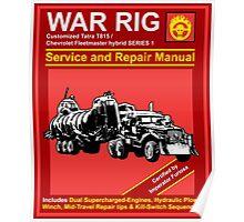 War Rig Manual Poster