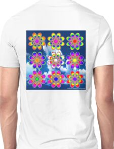 Over the Rainbow Foot Flowers Unisex T-Shirt