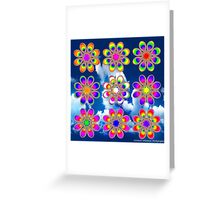 Over the Rainbow Foot Flowers Greeting Card