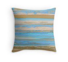 Sur la plage de Castoul Belle-Ile-en-Mer Throw Pillow