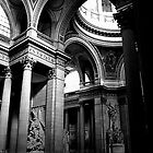 Pantheon interior in Paris in monochrome by Elana Bailey
