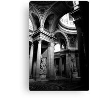 Pantheon interior in Paris in monochrome Canvas Print