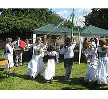 Maypole Dancing (Eastwell Leics village fete Aug 09) Photographic Print