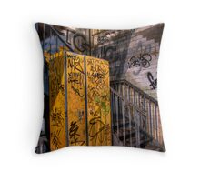 Graffiti shadows. Throw Pillow