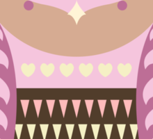 Cute Cartoon Own (Pink Design) Sticker