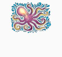 Purple Octopus Womens Fitted T-Shirt