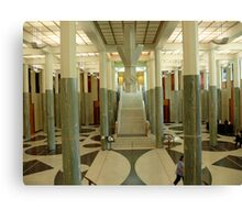 The Great Hall - Parliament House Canberra -ACT Canvas Print