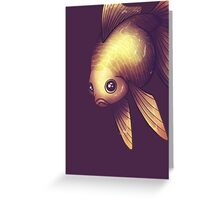 Fantail in Purple Greeting Card