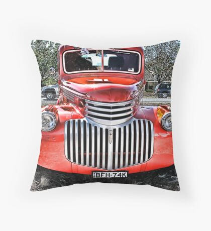 Red Ute Throw Pillow