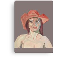 Red hat girl (single) Canvas Print