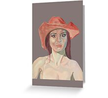 Red hat girl (single) Greeting Card