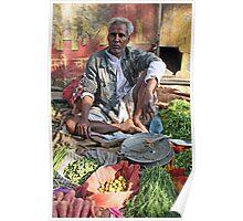 Indian market seller Poster