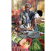 Indian market seller Photographic Print