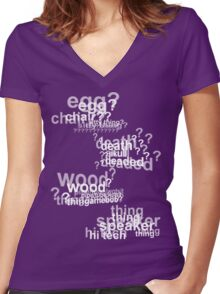 Drunk Deductions Women's Fitted V-Neck T-Shirt