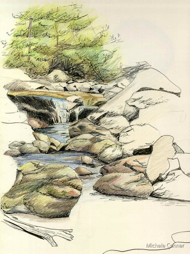 My Grandmother's brook by Michele Conner