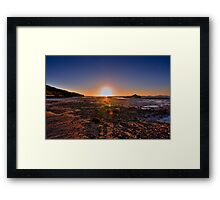 Sunset at low tide Framed Print