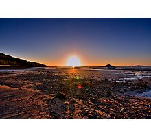 Sunset at low tide Photographic Print