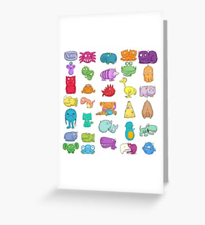 Furry Monsters Greeting Card