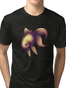 Fantail in Purple Tri-blend T-Shirt
