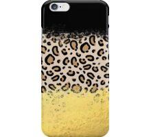 Wilder - black gold foil cheetah print animal pattern spots dots bold modern design sparkle glitter iPhone Case/Skin