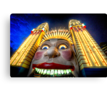 In Your Face - Luna Park   - The HDR Experience Canvas Print