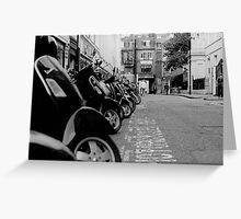 Vespa. London. Traffic. Greeting Card