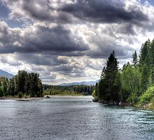 Wide Flathead River by Terence Russell
