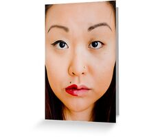 Face/Off Greeting Card