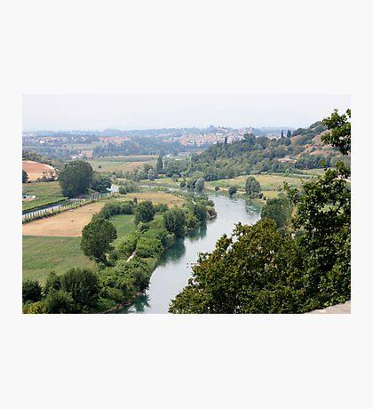 The River Mincio and morainic hills Photographic Print