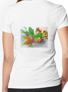 Autumn Comes Women's Fitted V-Neck T-Shirt