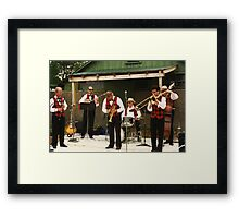 Trumpeter Takes A Bow Framed Print