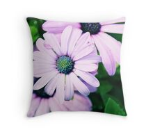 Dewdrop Daisies Throw Pillow