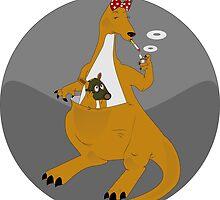 Mother kangaroo pouch chicken smokes by Desenatorul1976