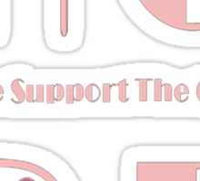 HOPE - Please Support the Cause Tee Sticker