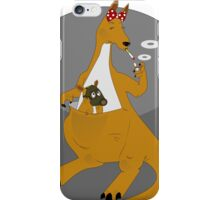 Mother kangaroo pouch chicken smokes iPhone Case/Skin