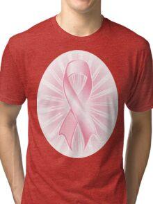Pink Ribbon Burst Tee Tri-blend T-Shirt
